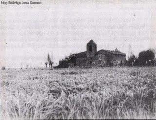 ermita de Bellvitge rodeada de campos de cultivo-foto Jose Bonastre 1959