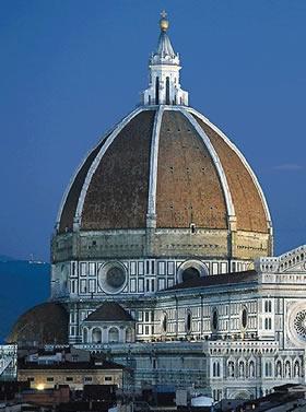 Cúpula del Duomo de Florencia, obra construida entre 1420 y 1436.