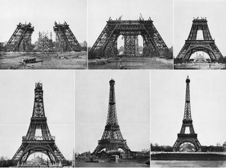 Construida con 6.300 toneladas de hierro forjado en 18.000 piezas unidas por 2.500.000 remaches, consiguió una altura de unos 300 metros y fue inaugura en 1889.